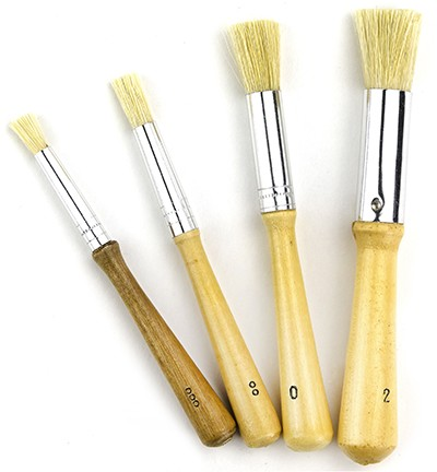 Stenciling Brushes - 4 pieces - Assorted