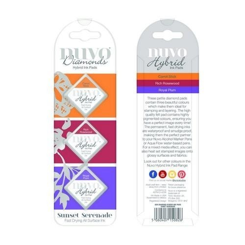 Nuvo - Diamond Hybrid Ink Pads - Sunset Serenade