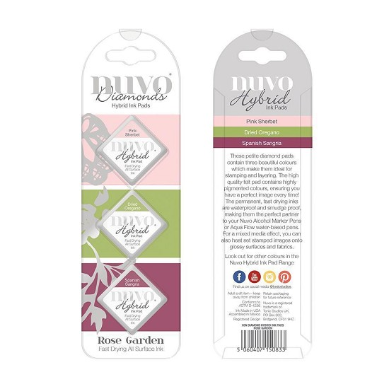 Nuvo - Diamond Hybrid Ink Pads - Rose Garden