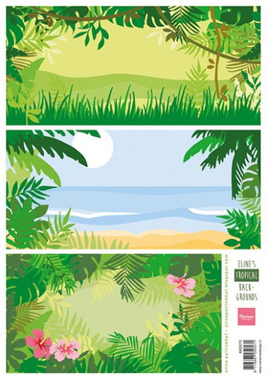 Marianne Design - Knipvel Eline Pellinkhof - Background Tropical