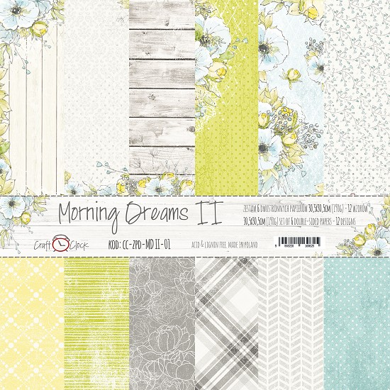 Craft-O-Clock - Paper Collection Set 30,5 x 30,5 cm - Morning Dreams II