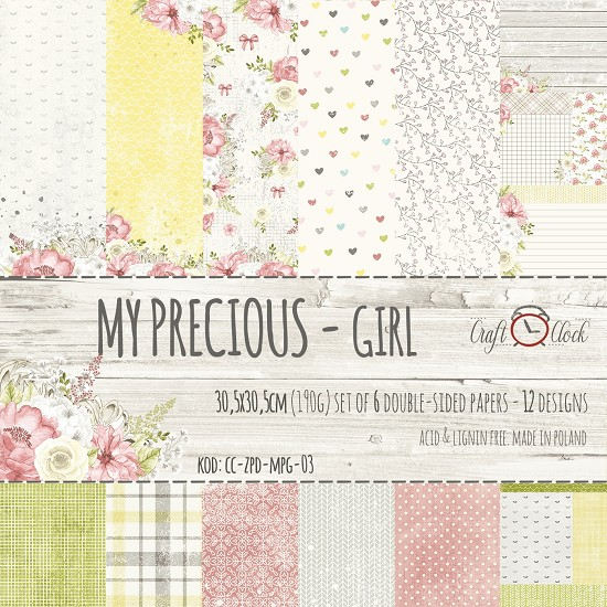 Craft-O-Clock - Paper Collection Set 30,5 x 30,5 cm - My Precious Girl