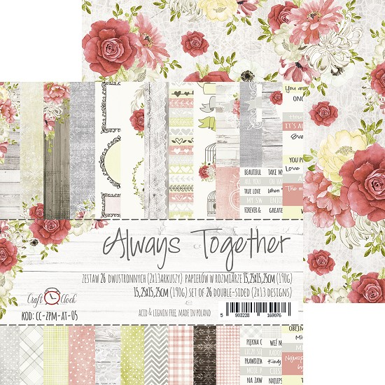 Craft-O-Clock - Paper Collection Set 15,2 x 15,2 cm - Always Together