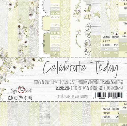 Craft-O-Clock - Paper Collection Set 15,2 x 15,2 cm - Celebrate Today