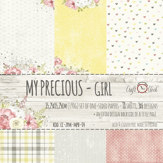 Craft-O-Clock - Paper Collection Set 15,2 x 15,2 cm - My Precious Girl