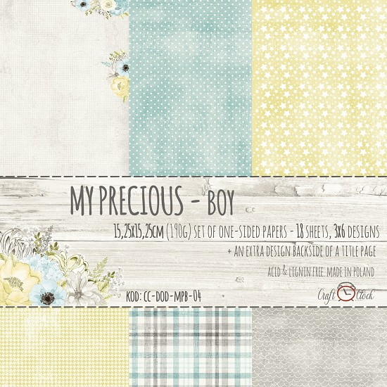 Craft-O-Clock - Paper Collection Set 15,2 x 15,2 cm - My Precious Boy