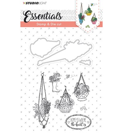 Studio Light - Essentials - Stamp & Die Cut nr.16 - Plantenhangers