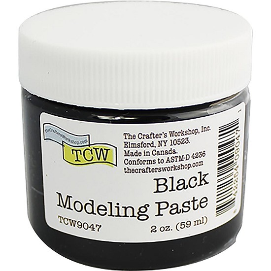 Crafter`s Workshop - Black Modeling Paste - 2oz