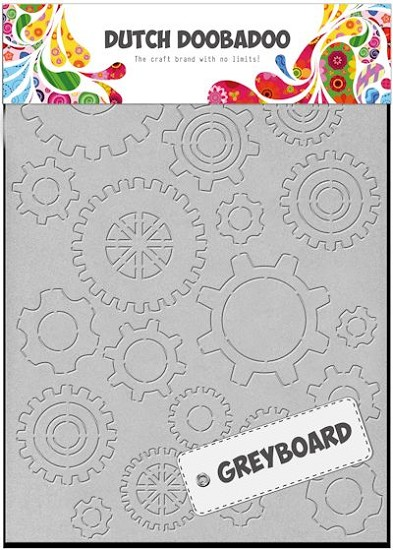 Dutch Doobadoo - Dutch Greyboard Art - Gears A6