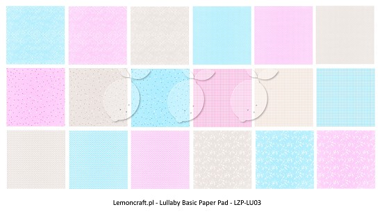 Lemoncraft - Paper Collection Set 30,5 x 30,5 cm - Lullaby Basic