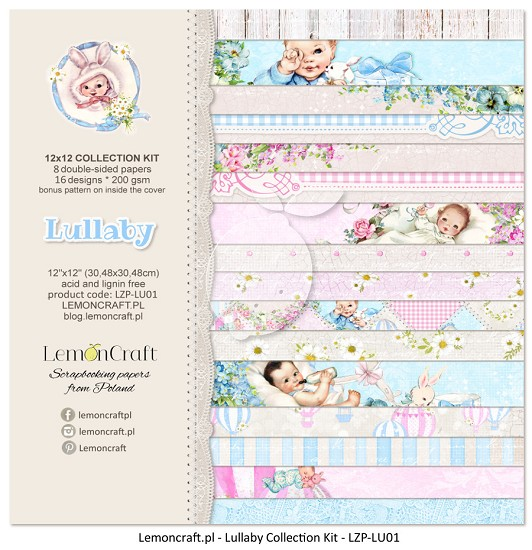 Lemoncraft - Paper Collection Set 30,5 x 30,5 cm - Lullaby