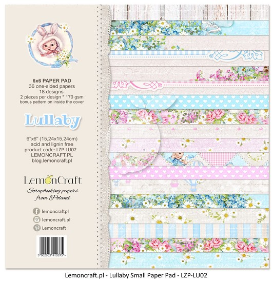 Lemoncraft - Paper Collection Set 15,2 x 15,2 cm - Lullaby