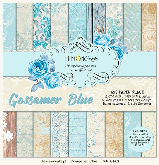 Lemoncraft - Paper Collection Set 15,2 x 15,2 cm - Gossamer Blue
