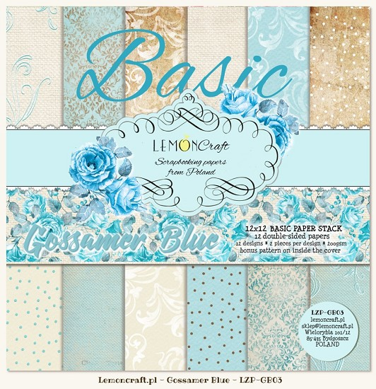 Lemoncraft - Paper Collection Set - Gossamer Blue Basic