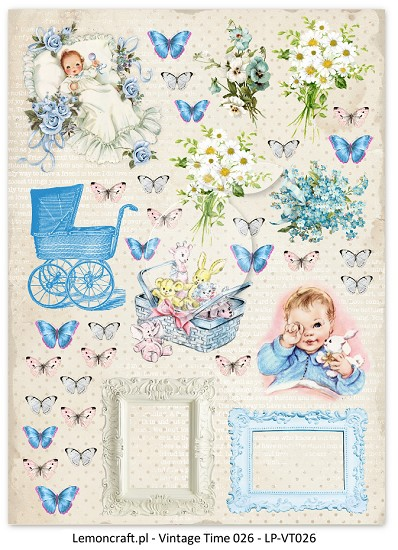 Lemoncraft -  Vintage Time A4 sheets - Lullaby 1