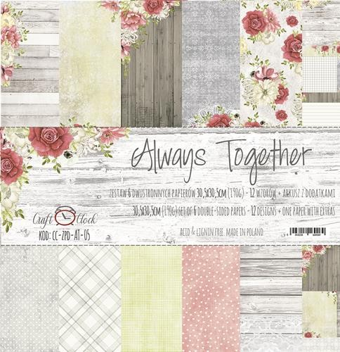 Craft-O-Clock - Paper Collection Set 30,5 x 30,5 cm - Always Together