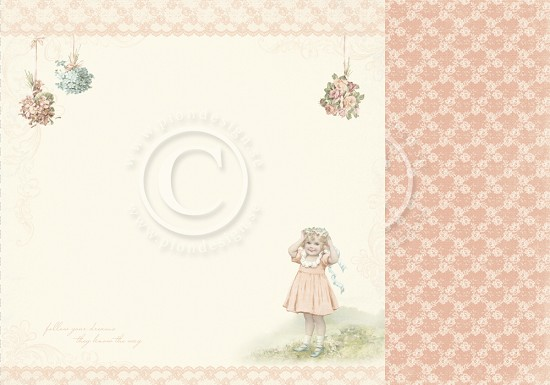 Scrappapier Pion Design - Life is Peachy - Pretty as a peach
