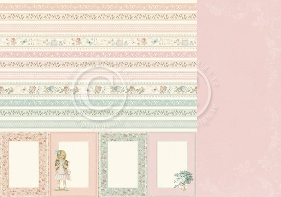 Scrappapier Pion Design - Life is Peachy - Borders
