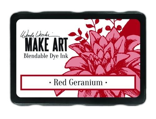 Ranger MAKE ART - Blendable Dye Ink Pad -  Red Geranium