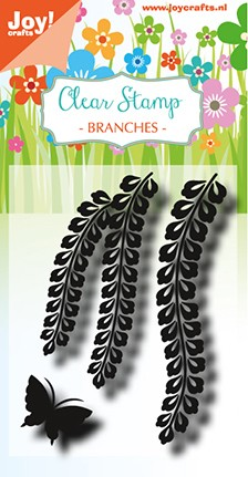 Noor! Design - Clearstamp - Branches with Butterfly