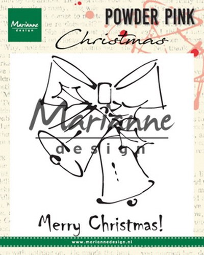 Marianne Design - Clearstamp Powder Pink - Merry Christmas Bells