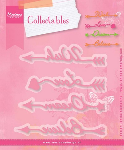 Marianne Design - Collectables - Arrow sentiments (Jenine Siemerink)