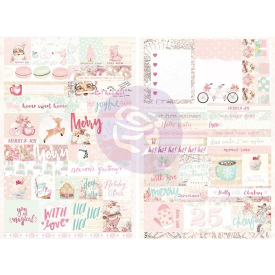 Prima Marketing - Santa Baby - Stickers Words & Quotes W/Foil Accents