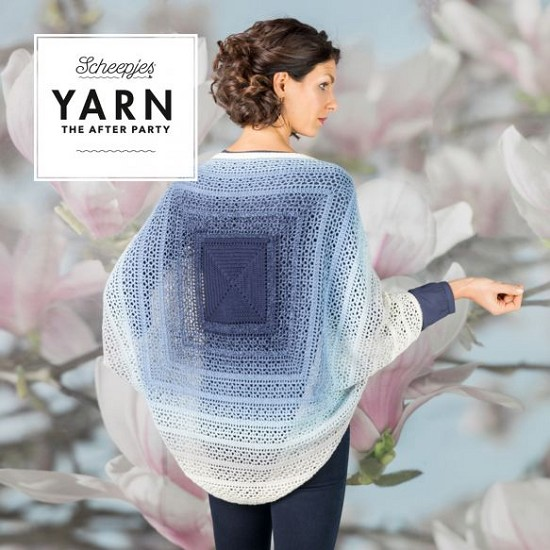 Haakpatroon - Yarn The After Party - no 27 Indigo Shrug