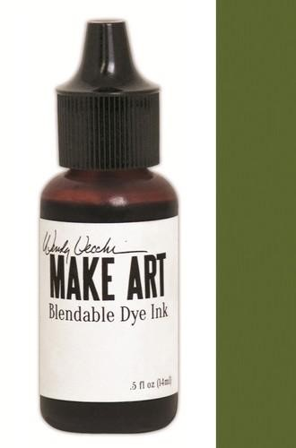 Ranger MAKE ART - Blendable Dye Ink REFILL - Fern Green