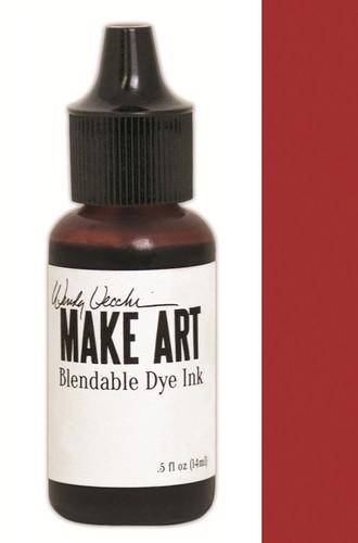 Ranger MAKE ART - Blendable Dye Ink REFILL - Red Geranium
