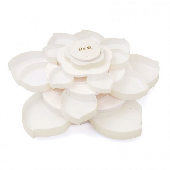 We R Memory Keepers - Embellishment storage Bloom - White