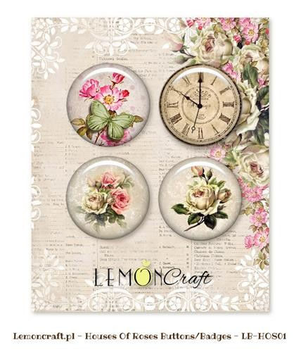 Embellishments Lemoncraft - House of Roses - Buttons