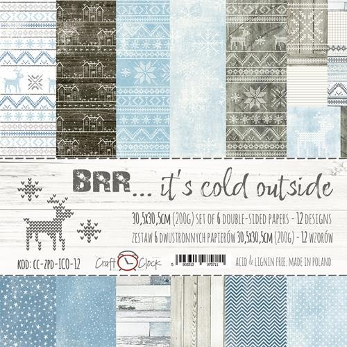 "Craft-O-Clock - Collection Kit 12"" x 12"" - Brr It`s Cold Outside"
