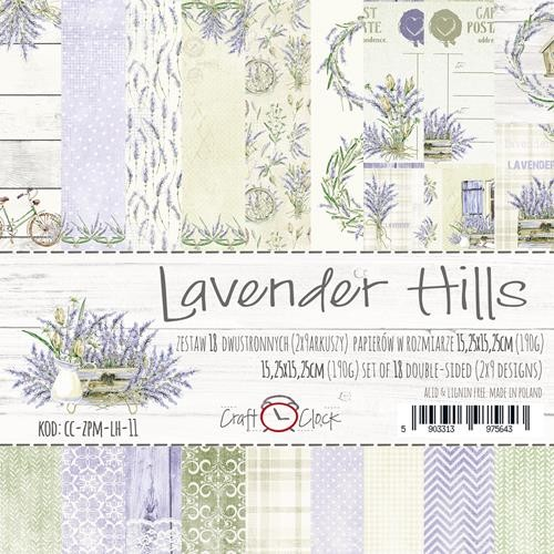 "Craft-O-Clock - Paperpad 6"" x 6""  - Lavender Hills"