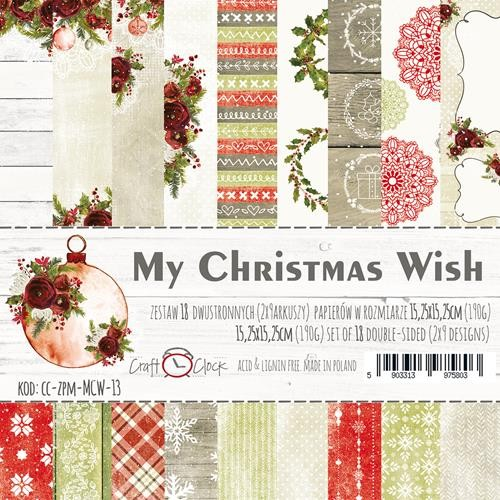 "Craft-O-Clock - Paperpad 6"" x 6""  - My Christmas Wish"