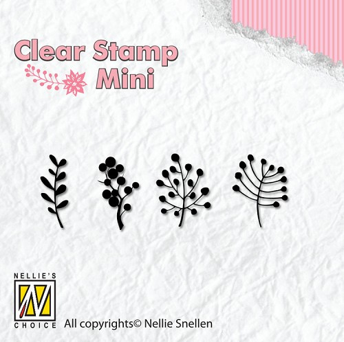 Clearstamp Nellie Snellen - Berries branches