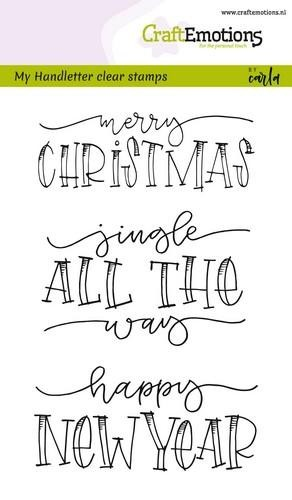 Clearstamp CraftEmotions - Handlettering - Jingle all the way