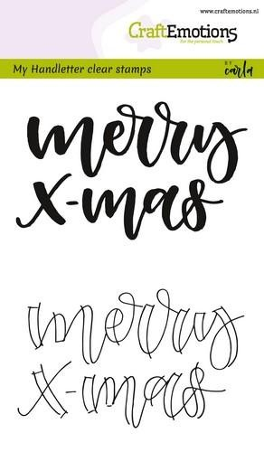 Clearstamp CraftEmotions - Handlettering - Merry Xmas