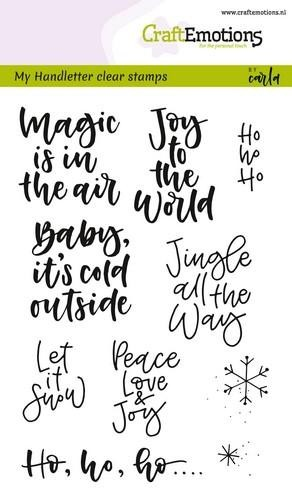 Clearstamp CraftEmotions - Handlettering - Tekst Xmas Small
