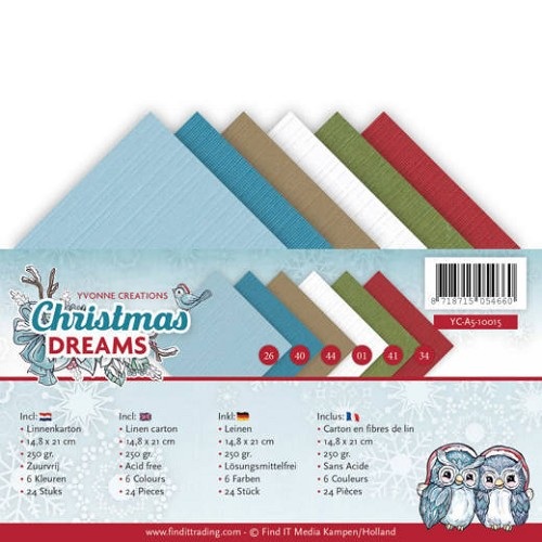 Linnenpakket - A5 - Yvonne Creations - Christmas Dreams