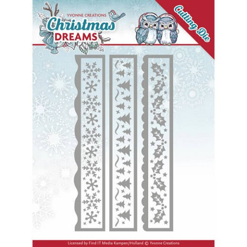 Dies - Yvonne Creations - Christmas Dreams - Christmas Borders