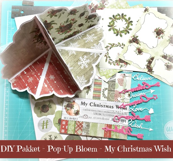DIY pakket - Pop Up Bloemkaart - My Christmas Wish