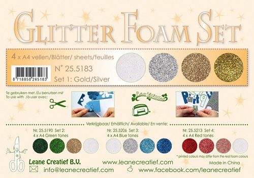 Glitter Foam Set 1 - Gold /silver colours