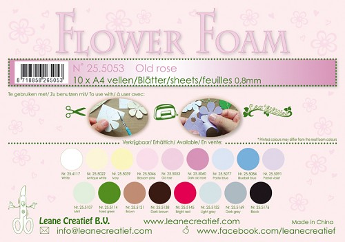 Leane Creatief - Flower foam sheets A4 0.8mm. Old rose