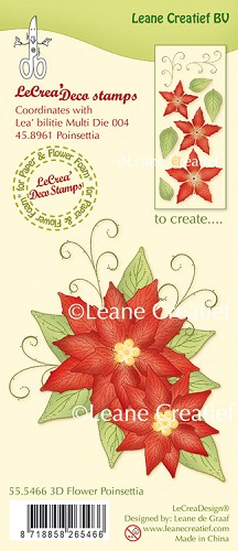 LeCreaDesign® - Clearstamp 3D Flower Poinsettia