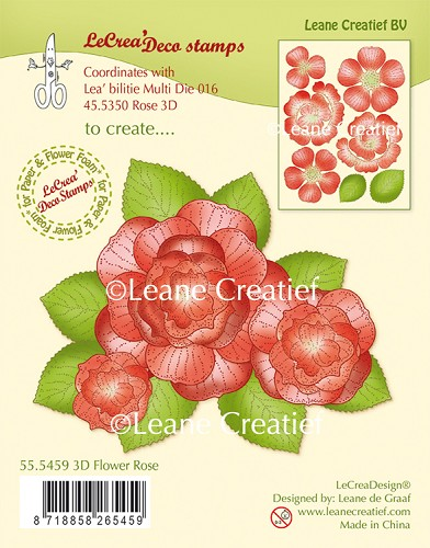 LeCreaDesign® - Clearstamp 3D Flower Rose