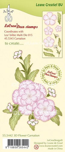 LeCreaDesign® - Clearstamp 3D Flower Carnation
