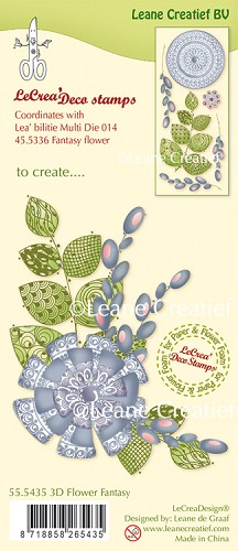 LeCreaDesign® - Clearstamp 3D Fantasy Flower