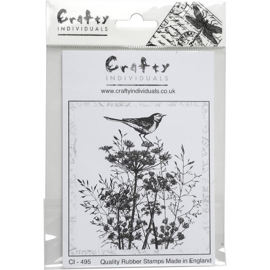 Crafty Individuals - Unmounted Rubber Stamp - Perching Pied Wigtail