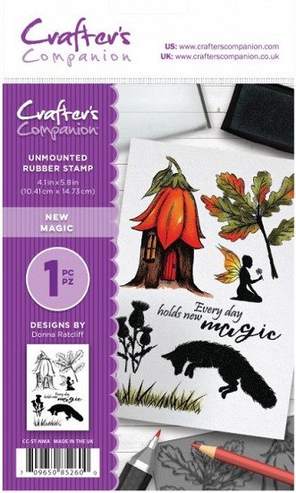 A6 Unmounted Rubberstempel - Crafter`s Companion - New Magic